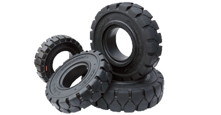 Tyres in a pile