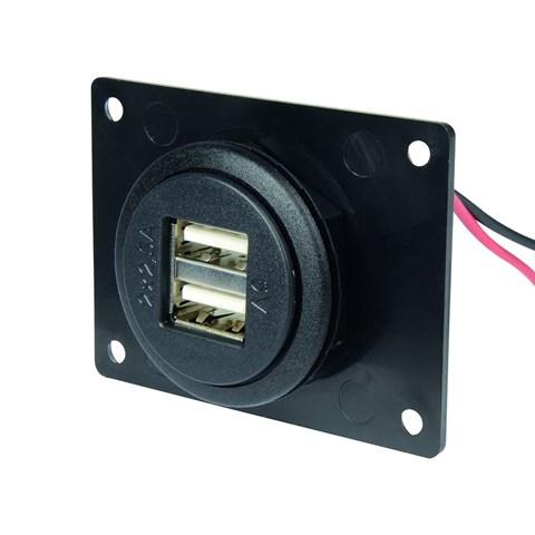 Prise USB intégrée, 2 ports