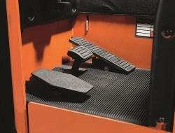 Car pedal layout